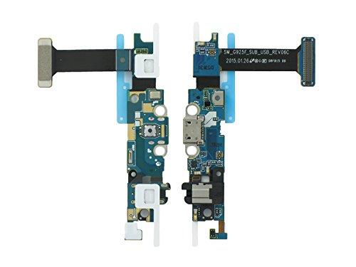 Samsung SM-G925F Galaxy S6 Edge Micro USB Ladebuchse, Connector Buchse + Mikrofon + 3,5 mm Audio Buchse + Sensor Tasten Flex