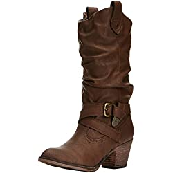 Rocket Dog Sidestep - Botas para mujer, Marrón (Chocolate), 39