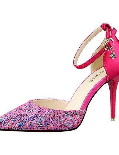 WSS 2016 Chaussures Femme-Habillé-Noir / Rose / Violet / Gris-Talon Aiguille-Talons / Bout Pointu / Bout Fermé-Talons-Similicuir gray-us6.5-7 / eu37 / uk4.5-5 / cn37