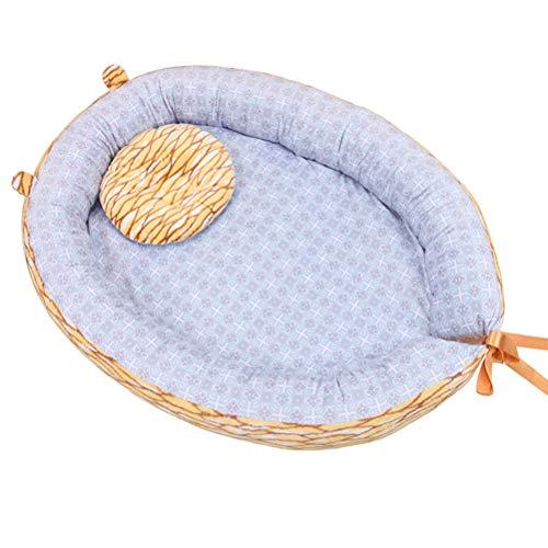 MULI multifunktionales Babynest Kuschelnest Babynestchen (68 x 50cm). Weiches und Sicheres Baby-Reisebett Babybett Nestchen für Neugeborene,B