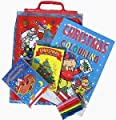 Kids 4 Piece Christmas Activity Pack - Stickers And Colouring