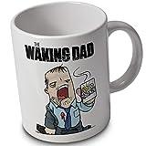 El flash con Dad - Taza de zombi - carcasa taza