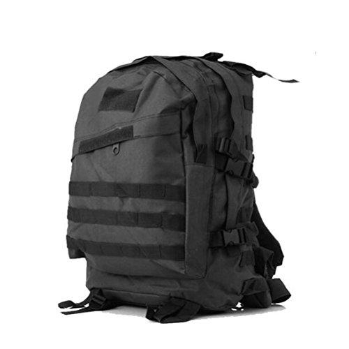 Rucksack Militär Camouflage 3D Reisecamping Wandern Outdoor Rucksack Black