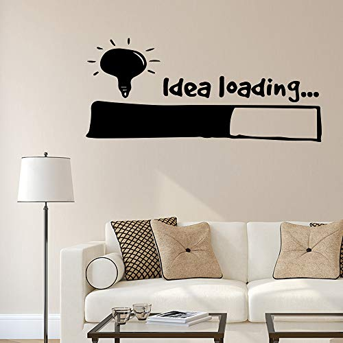 WWYJN Idea Loading Wall Sticker Wall Art Decal Home Decoration for Bedroom Living Room Detachable Vinyl Wall Decor Blue M 30cm X68cm - Nabendeckel Jeep Schwarz