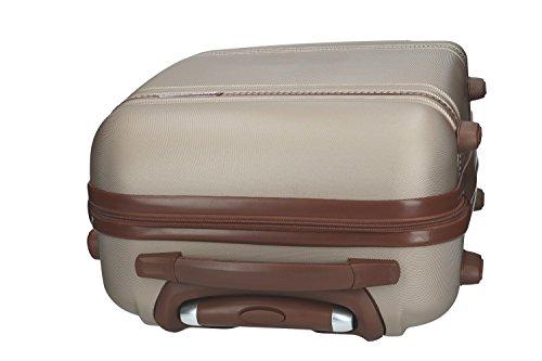 41SvyHBXKoL - Maleta rígida PIERRE CARDIN oro mini equipaje de mano ryanair 4 ruedas VS164