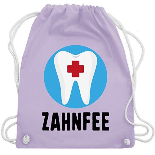 Zahn Fee Kostüm Accessoires - Karneval & Fasching - Zahnfee Zahn mit Kreuz - Unisize - Pastell Lila - WM110 - Turnbeutel & Gym Bag