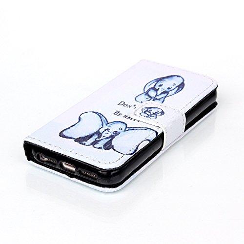 Coque pour Apple iphone SE 5 5S,Housse en cuir pour Apple iphone SE 5 5S,Ecoway Colorful imprimé étui en cuir PU Cuir Flip Magnétique Portefeuille Etui Housse de Protection Coque Étui Case Cover avec  B-1