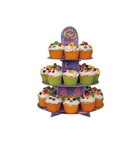 d Schnell Candy Party Geburtstag Party Artikel (Einzigartiges), Geschirr/Deko/Banner/Süßigkeiten Cupcake Stand (42269) (Baby Dusche Süßigkeiten Halter)