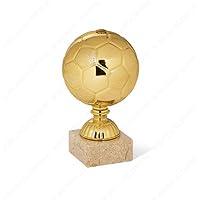 Tecnocoppe - Trofeo de máximo goleador de fútbol, altura: 17,50cm, trofeo «Balón de oro»