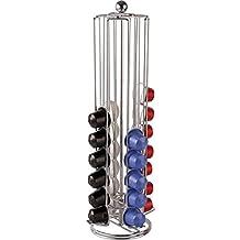 Balvi Towerdispensadoryorganizadorparacápsulasdecafé.CompatibleconcápsulasdecaféNespresso.Capacidad:40cápsulas.Giratorio.Metal