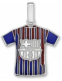 Camiseta escudo F.C. Barcelona Plata de ley escudo grande [6963] - Modelo: 10-142