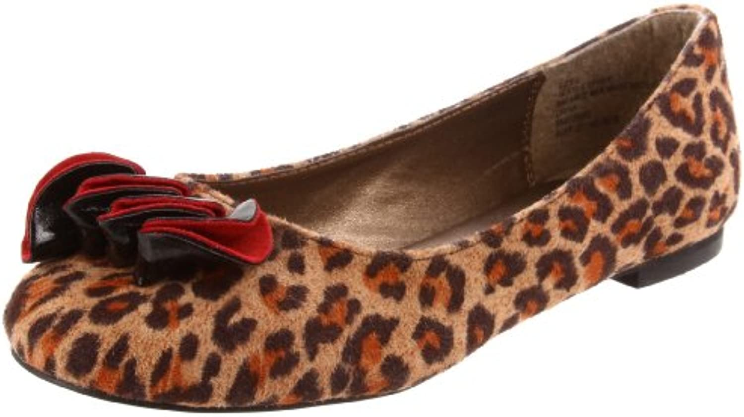 Steve Madden Kids' Rufflle Ornamented Flat Leopard 1 M US Little Kid