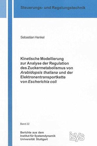 Kinetische Modellierung zur Analyse der Regulation des Zuckermetabolismus von Arabidopsis thaliana und der Elektronentransportkette von Escherichia ... für Systemdynamik Universität Stuttgart)