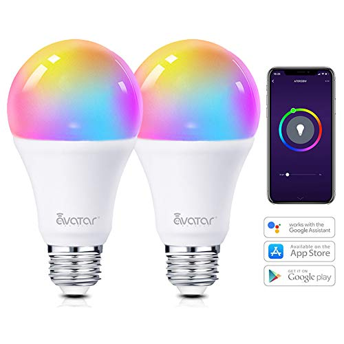 Lampadina Smart E27 WiFi Lampadine Alexa Intelligence 7W RGBW 910LM Multicolore Dimmerabile Compatibile con Alexa/Google Assistant 60W by Avatar Controls Nessun Hub Richiesto (2)
