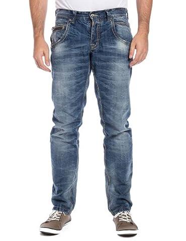 Timezone Herren Slim Jeans 26-5529 HaroldTZ rough, Gr. W32/L34, Blau (midwest wash 3627)