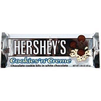 Hershey 's Cookies 'N' creme Candy Bar, 1.55-ounce Bars (36Stück)