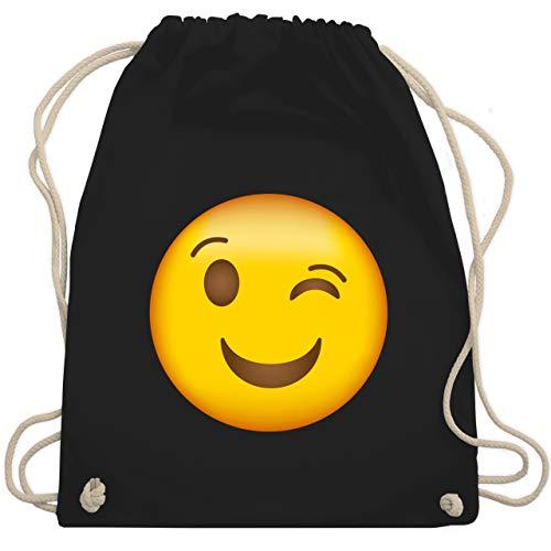 Comic Shirts - Zwinker Emoji - Unisize - Schwarz - WM110 - Turnbeutel & Gym Bag