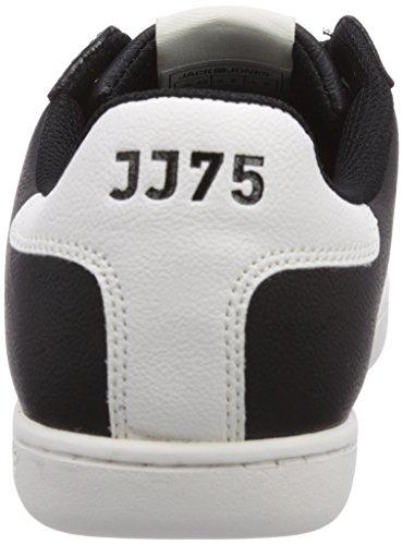 Jack & Jones Brooklyn Pu, Baskets mode homme Noir (Black)