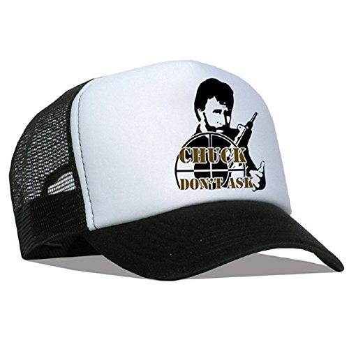 Raphia Art Mesh Casquette Chuck Norris Don't Ask for./Black