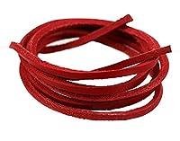 Shoelaces Bracelet Necklace Genuine Leather Colors DIY by Santimon Red 80 CM