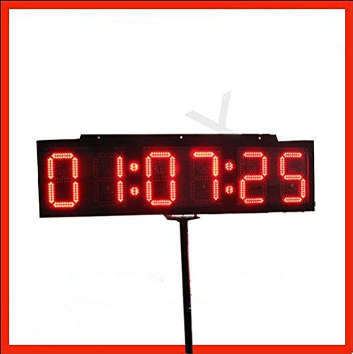 Gowe 12,7cm pubblicità prodotti doppio LED Sign LED orologio