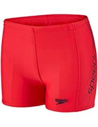 Speedo Sports Logo Panel Aquashorts–Bañador corto Rojo Fed Red/Navy Talla:152