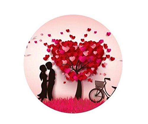 Broschen für Frauen Kleidung Dekoration Schmuck Glücklicher Valentinstag vorzüglicher Weinlese-Broschen-Knopf-Abzeichen 25mm Pin (Valentinstag-kleidung Für Frauen)