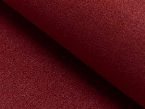Fabrics-City BORDEAUX BASTELFILZ FILZ STOFF 100CM~4MM~ FILZSTOFF STOFFE, 4222