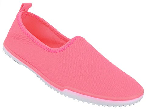 Damen Schuhe Halbschuhe Slipper Freizeitschuhe Rosa Rosa