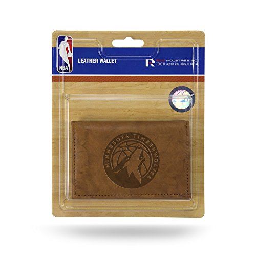 Rico NBA Minnesota Timberwolves Leder Trifold Wallet mit Man Made Innen - Rindsleder Tri-fold Wallet