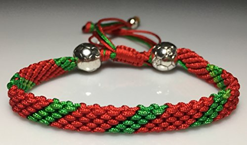PORTUGUESE FOOTBALL ROPE BRACELET Mary s Terrace Handmade to order Ideal Football Themed Gift for any Football Supporter All Premier League Kit Colours available a Sporting Accessory for any FOOTBALL Fan a Present they will love PORTUGAL