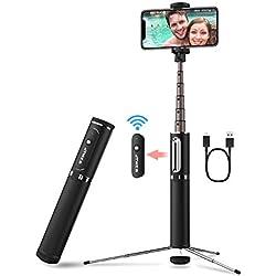 JTWEB Bluetooth Selfie Stick Trépied avec télécommande 3 en 1 sans Fil Selfie Barre en Aluminium avec trépied caché pour iPhone Android Samsung Huawei 3,5-6 Pouces