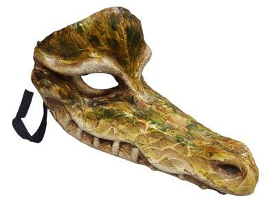 Authentic Handgefertigt Krokodil Alligator Animal Masquerade venezianischen Full Face Maske