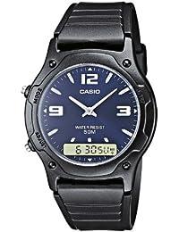 Casio Herren Armbanduhr Collection Analog / Digital Quarz Schwarz Resin Aq-160W-1Bvef