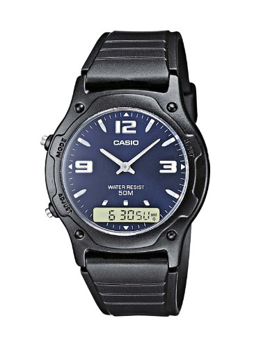 Casio Collection – Herren-Armbanduhr mit Analog/Digital-Display und Resin-Armband – AW-49HE-2AVEF