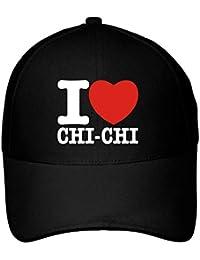 3042f4adb38ab Idakoos I Love Chi Chi Bold Font - Bebidas del Mundo - Gorra De Béisbol