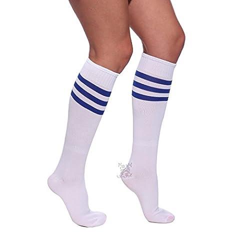 Surepromise Sexy Mini Robe Debardeur Bleu Pom-Pom Girl Uniforme Cheerleader XS-11XL Oversize Femme