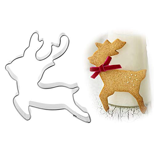 usstecher aus Edelstahl Pastry Cookie Cutter Biscuit Mold Christmas Deer Reindeer Mould Cake Decor ()