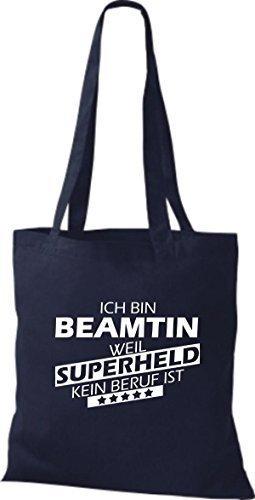 Tote Bag Shirtstown Sono Un Funzionario Pubblico Perché Il Supereroe Non È Una Professione Marina