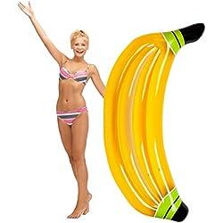 """WLZP Hinchable Colchonetas Piscina, Inflable Plátanos Gigante Flotador, Juguete para Fiesta de Piscina con Válvula Rápida, Fotografía Apoyos, Flotador Inflable para Adultos 67 X 23,6 X 7,8"""""""