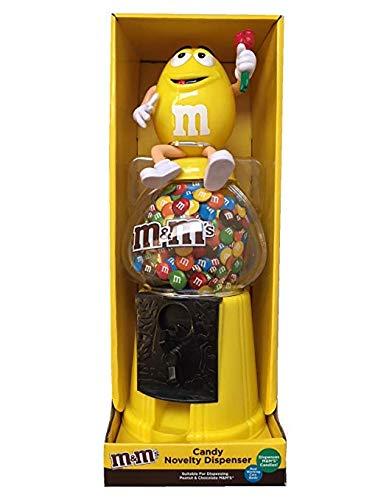 M&M's Distributore di Caramelle novità/Salvadanaio 30,5 cm - Giallo, M & M Candy Dispenser/Piggy Bank