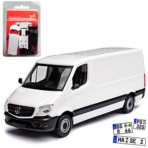 alles-meine GmbH Mercedes-Benz Sprinter II Kasten Transporter Weiss NCV 3 W906 Modell 2006-2018 Version Ab Facelift 2013 Kit Bausatz H0 1/87 Herpa Modell Auto mit individiuellem Wunschkennzeichen