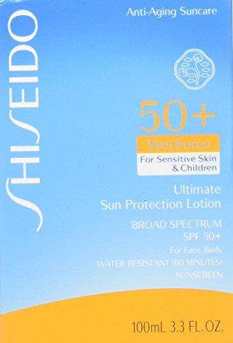Shiseido Ultimate Sun Protection Lotion WetForce for Sensitive Skin and Children 100ml by Shiseido -