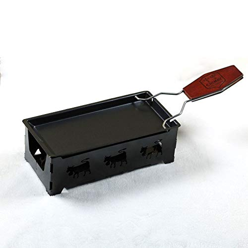 Roasters Praktische Geräte Mini-Antihaft-Backblech mit Holzgriff Käseofen BBQ-Werkzeuge ()