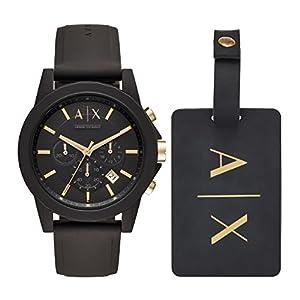 Armani Exchange Herren Chronograph Quarz Uhr mit Silikon Armband AX7105