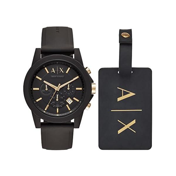Armani Exchange Reloj Cronógrafo para Hombre de Cuarzo con Correa en Silicona