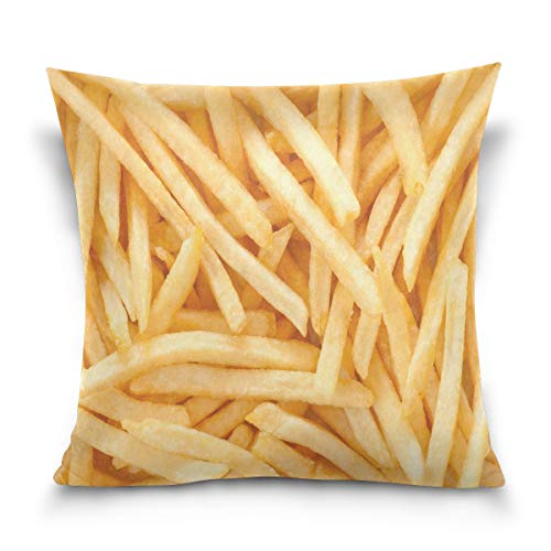 Use7 Funda de Almohada Decorativa Cuadrada Funda de cojín, Chips francés Patatas...