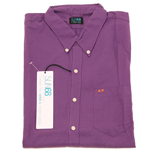 8432 camicia short sleeve SUN68 camicie uomo shirt men [XL]