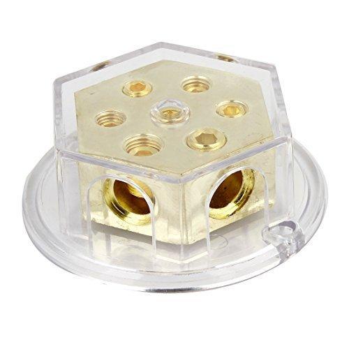 Mascherina per autoradio da amplificatore 5 posizioni distribuzione di potenza blocco oro trasparente