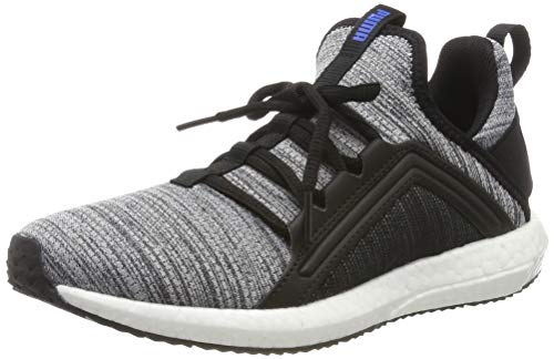 Puma Unisex-Kinder Mega NRGY Heather Knit Jr Sneaker, Schwarz Black White-Indigo Bunting, 35.5 EU